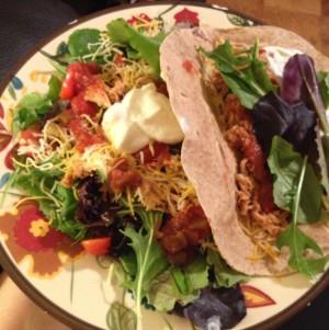 taco and taco salad