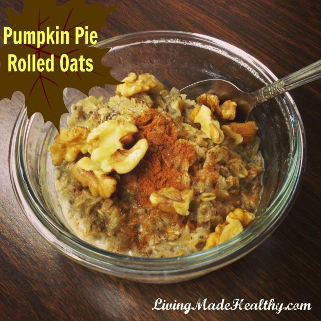 Pumpkin Pie Rolled Oats